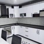 акриловая темная столешница для кухни