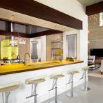 желтая столешница для кухни