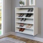 белые полки для хранения обуви