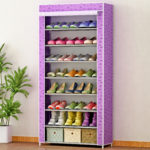 сиреневый стеллаж для хранения обуви