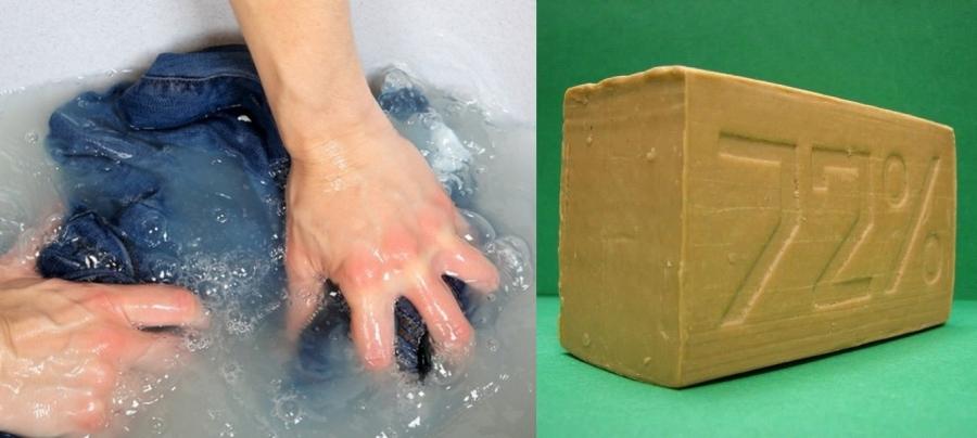 стирка хоз мылом
