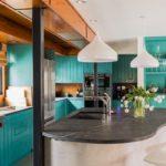 овальная черная столешница для кухни