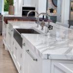 столешница для кухни под белый мрамор