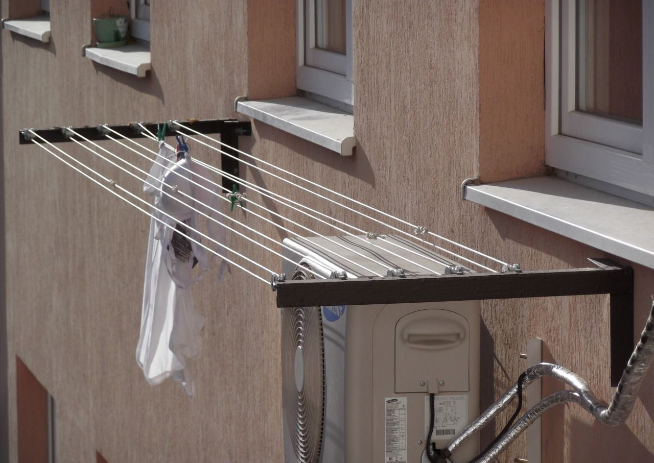 сушка белья на улице