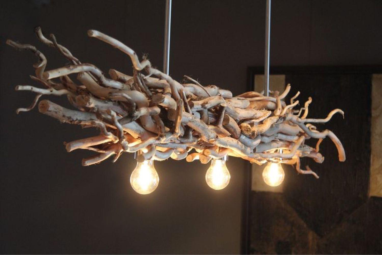 светильник гнездо из веток