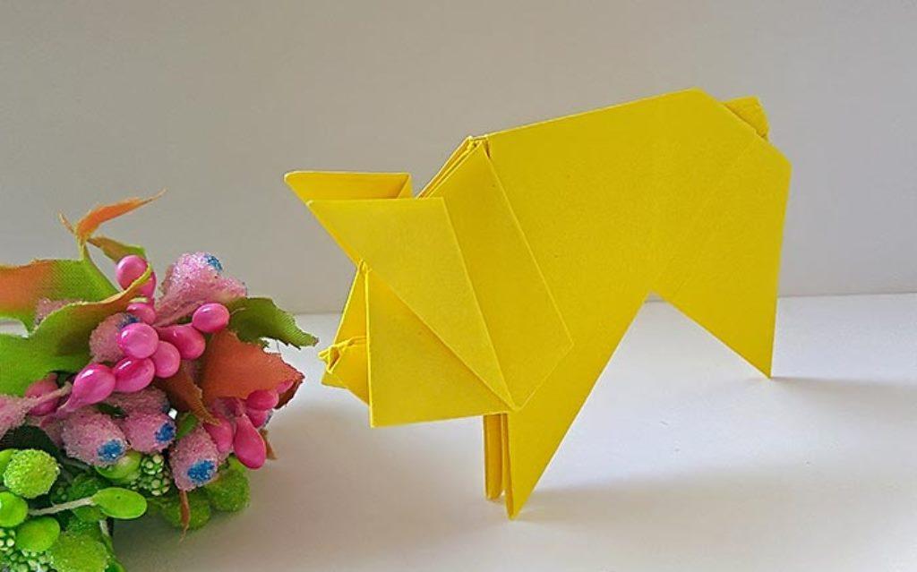 свинья оригами