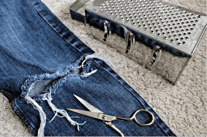 кухонная терка для потертостей на джинсах