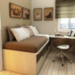 кровать-трансформер коричневая