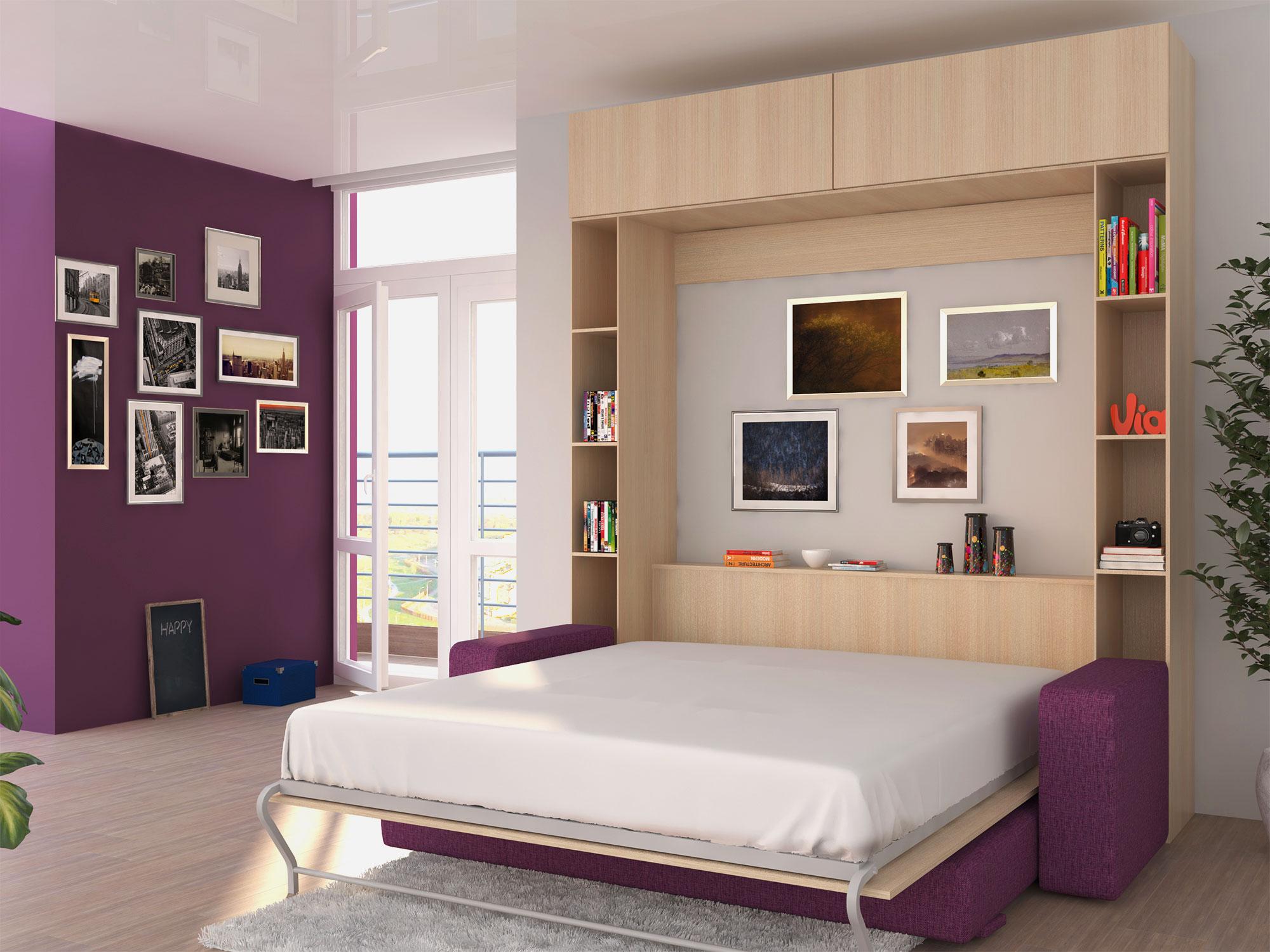 Кровати встраиваемые в стену фото