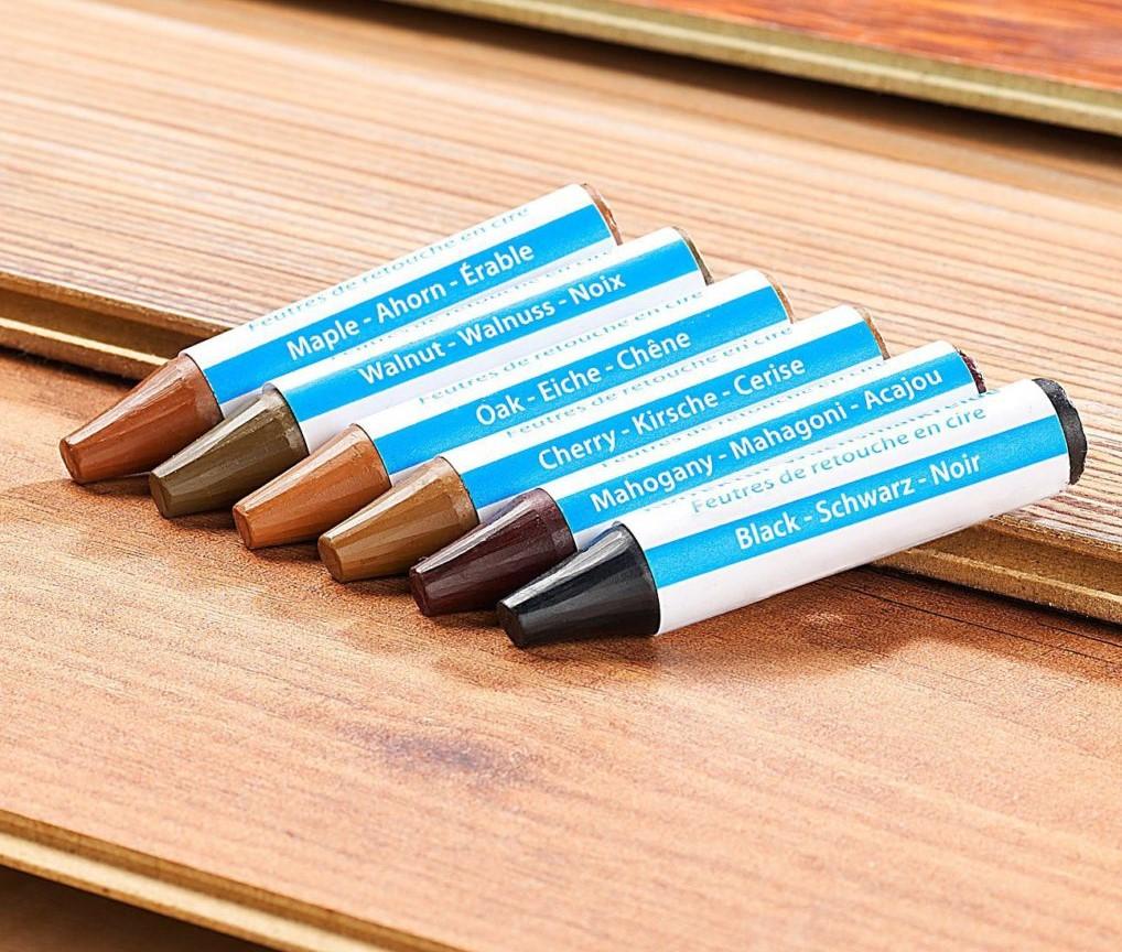 твердые восковые карандаши