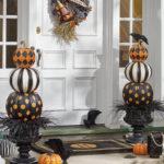 украшение дома на хэллоуин фото декора