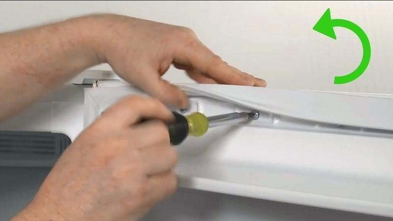 установка уплотнителя на дверцу холодильника
