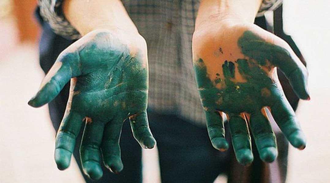 как отмыть зеленку