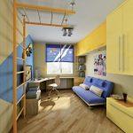 комната узкая для детей