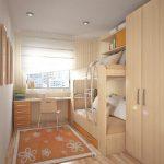 комната узкая спальня