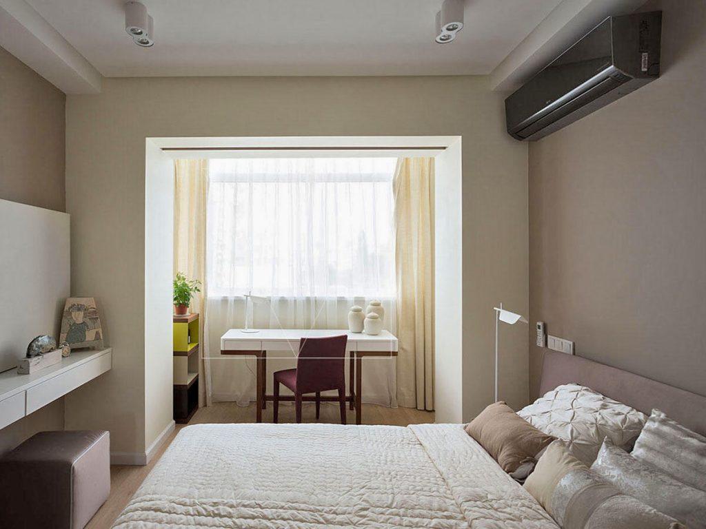 балкон объединенный со спальней