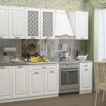 белый кухонный гарнитур с решеткой