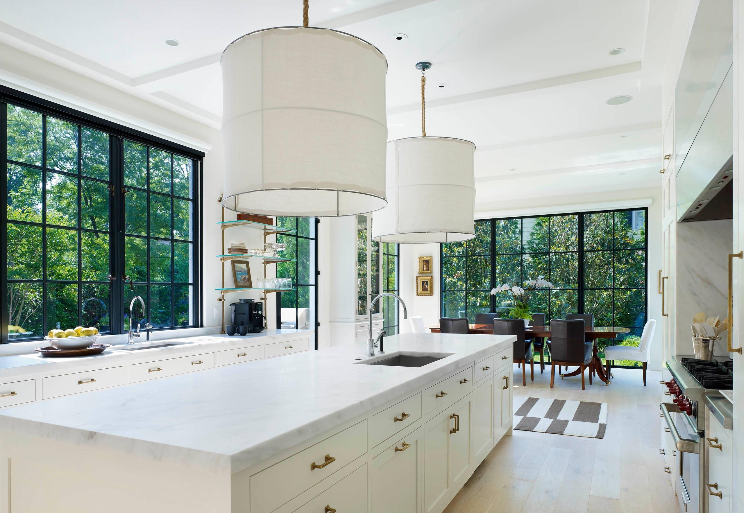 оттенки белого цвета на кухне