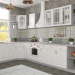 угловойбелый кухонный гарнитур