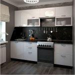белый кухонный гарнитур фатук черный