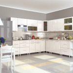 белый кухонный гарнитур просторный