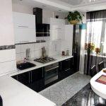 белый кухонный гарнитур глянцевый