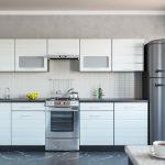 белый кухонный гарнитур квадратный