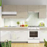 белый кухонный гарнитур сверзу бежевый