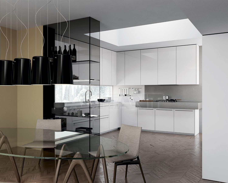 минималистический стиль белой кухни