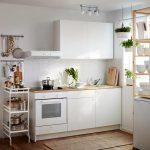 белый кухонный гарнитур маленький