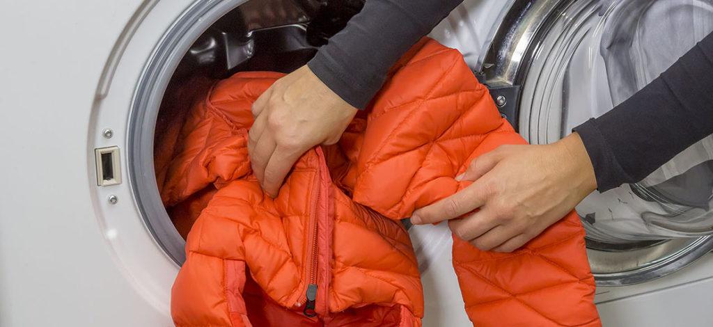 как постирать куртку с биопухом