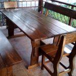 прямоугольный стол в беседку