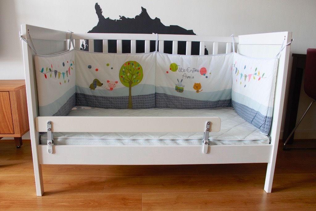 бортик для детской кровати икеа
