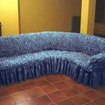 чехол на диван синий