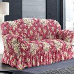 чехол на диван с цветами