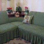 чехол на диван зелень