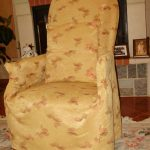 чехол для кресла желтый