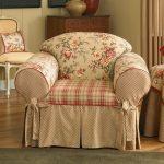 чехол для кресла в цветочек