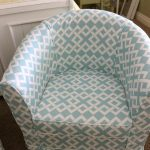 чехол для кресла голубой