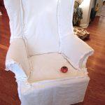 чехол для кресла белый
