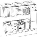 чертеж кухни прямоц