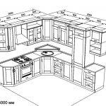 чертеж кухонной мебели