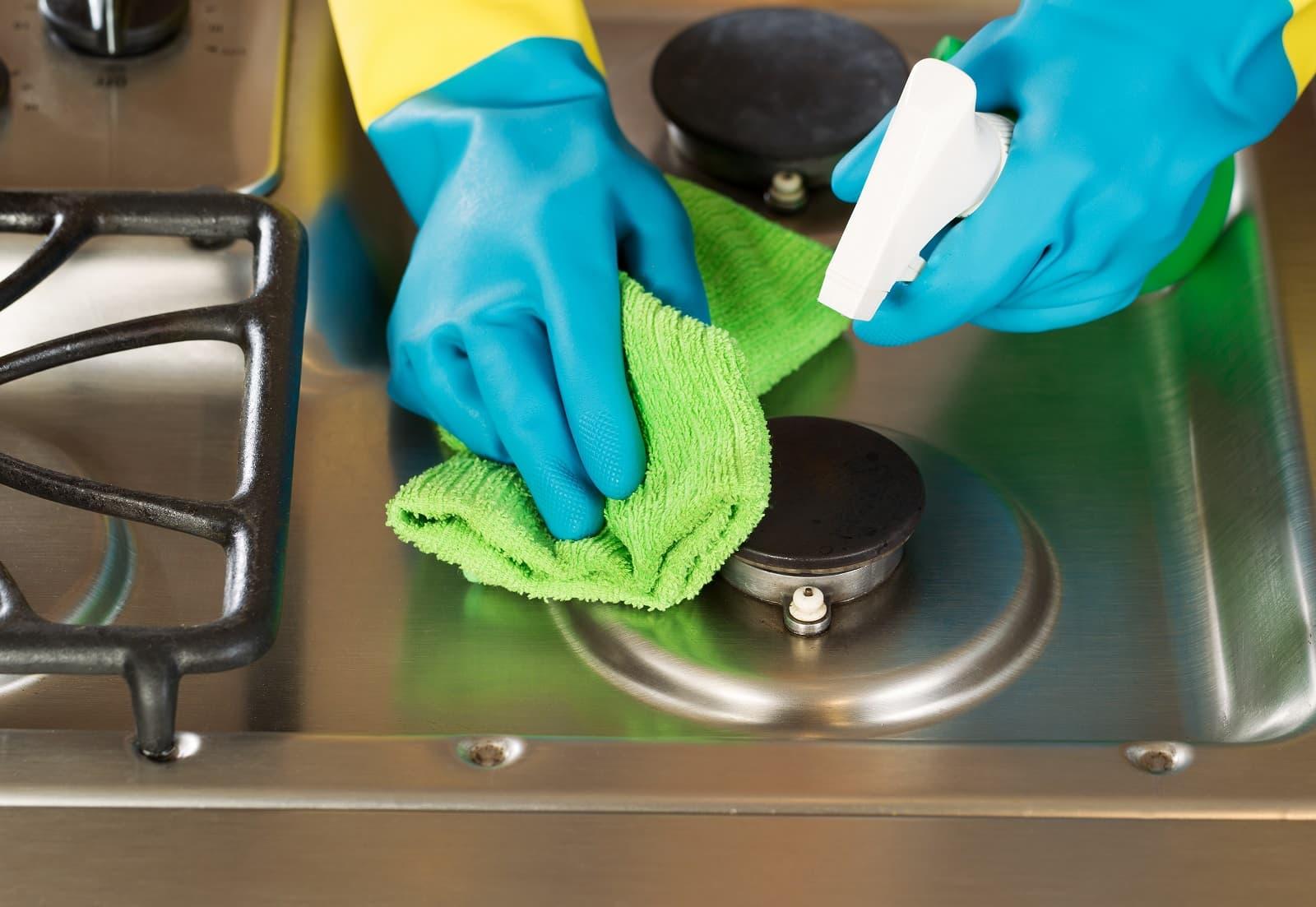глобальная чистка плиты