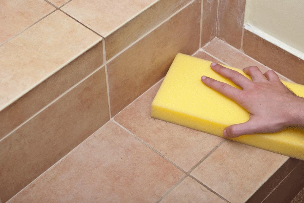 чистка напольной плитки