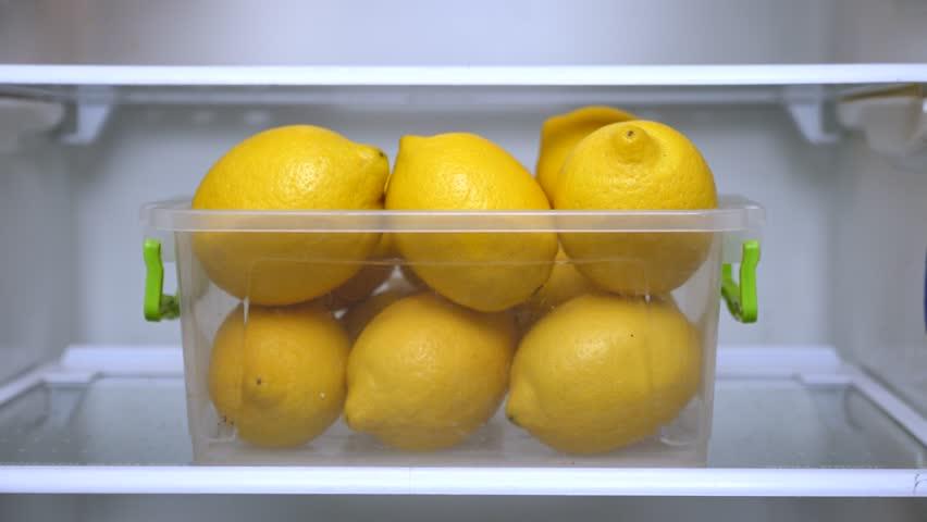 цитрусовые в холодильнике
