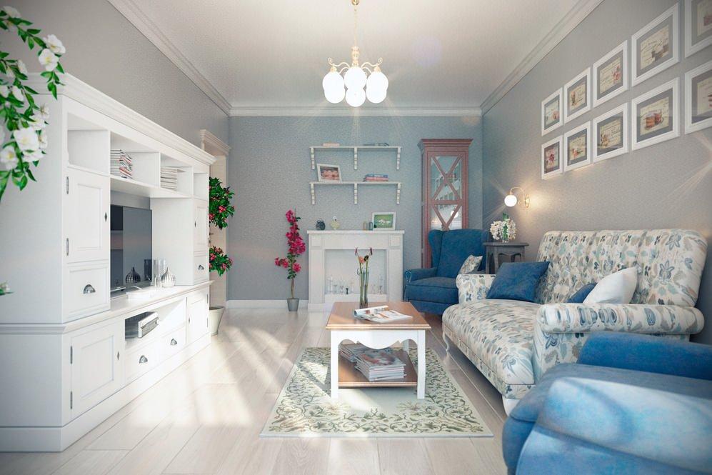 светлый интерьер с диваном