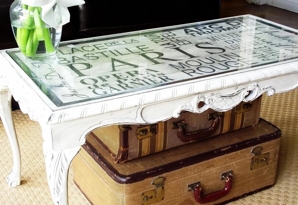 декор винтажного стола