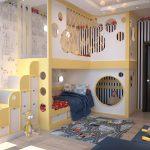 детская комната для двоих детей декор фото