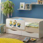 детская кровать с бортиками оформление фото