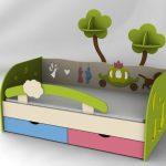 детская кровать с бортиками виды фото